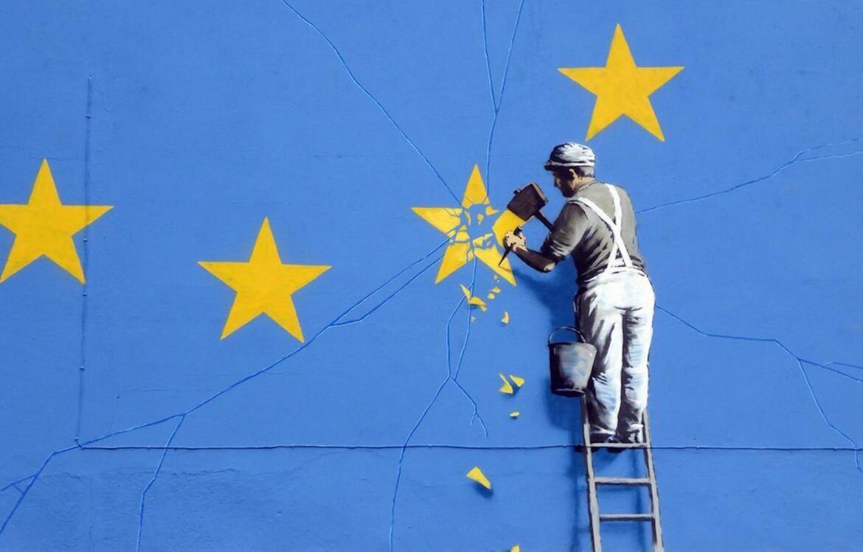 Graffiti de Banksy réalisé à Douvres à l'occasion du Brexit.