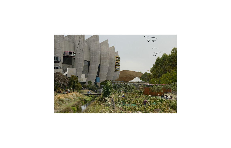 La porte de Saint-Cloud, à Paris, vue par le scénario de l'Institut Momentum, «Biorégions 2050»