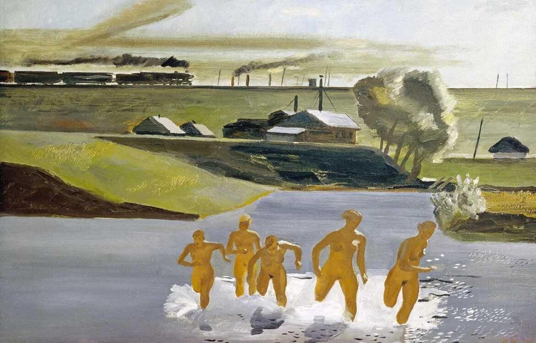 Alexandre Deïneka, Midi, 1932, Musée d'État russe, San Petersbourg
