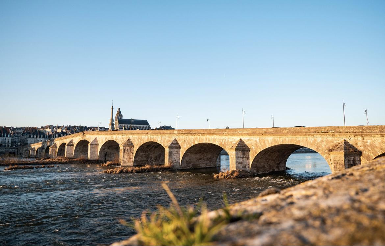 Pont de Blois, Loire, France.