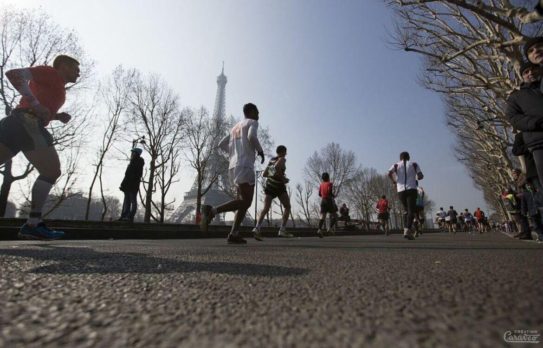 Marathon de Paris en 2013.