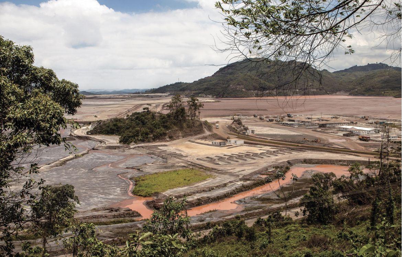 Le Rio Doce, dans l'Etat du Minas Gerais, pollué après la rupture du barrage minier de la société Vale.