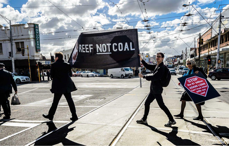 Manifestation contre le projet de mine Carmichael, le  2 mai 2017,